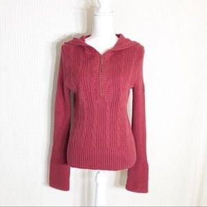 DKNY Jeans Hooded Sweater Size Small B140